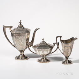Three-piece Woodside Sterling Silver Coffee Service