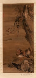 Hanging Scroll Depicting Mandarin Ducks
