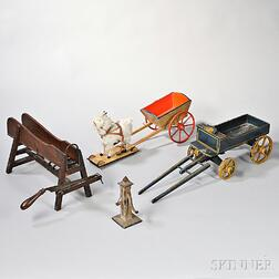 Group of Miniature Farm Equipment