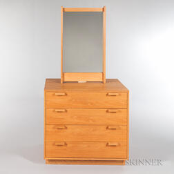 Charles Webb Oak Chest of Drawers and Mirror