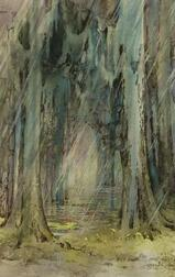 Alice Ravenel Huger Smith (American, 1876-1945)  Raining in a Cypress Swamp