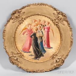 Italian School (Sienna), 19th Century      Musical Angels, A Grand Tour Souvenir