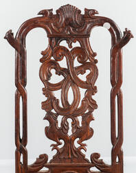 Carved Hardwood Chair