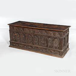 Carved Walnut Cassone