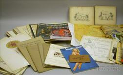 Box of Early 20th Century Ephemera and Collectibles