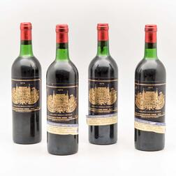 Chateau Palmer 1975, 4 bottles