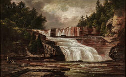 David Johnson (American, 1827-1908)      Figures by Trenton Falls
