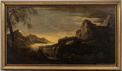 Anglo/American School, 19th Century      Romantic Landscape with Soldiers and Travelers