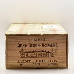 Chateau Grand Corbin Despagne 2005, 12 bottles (owc)