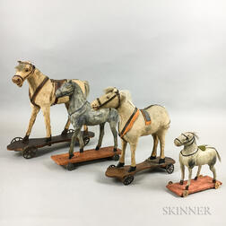 Four Horse Pull Toys
