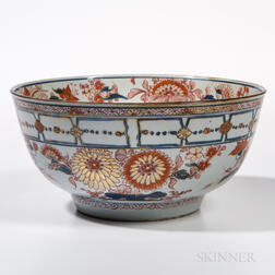 Large Export Imari Punch Bowl