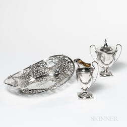 Three Pieces of American Sterling Silver Hollowware