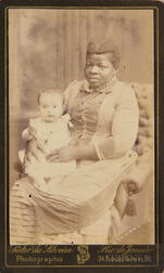 Carte-de-visite Depicting a Black Nanny Holding a White Baby