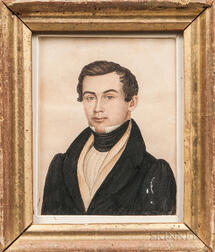 Rufus Porter (Connecticut/Massachusetts, 1792-1884)      Portrait of a New England Gentleman