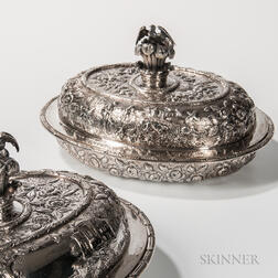 Two Kirk & Son .917 Silver Covered Tureens