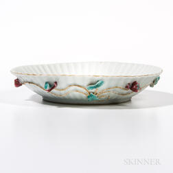 Export White Porcelain Petaled Dish