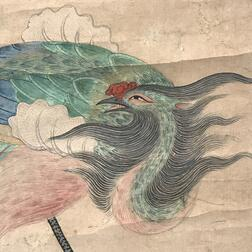 Hanging Scroll Depicting Phoenixes