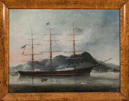 Chinese School, 19th Century      The American Clipper Ship Commodore T.H. Allen   at Hong Kong