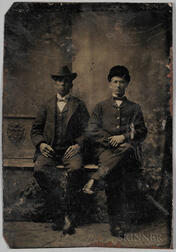 Tintype Depicting a Well-dressed African American Man and a White Man