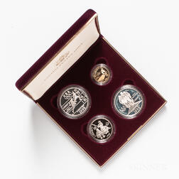1995 Atlanta Olympics Four-coin Proof Set