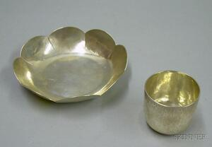 Two Old Newbury Crafters Hand-hammered Silver Articles