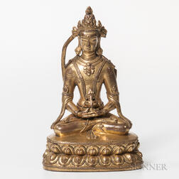Parcel-gilt Bronze Figure of Amitayus