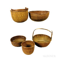 Five Nantucket Baskets