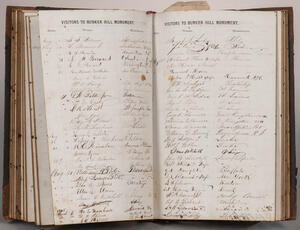 Bunker Hill Visitor's Books, 1862-1865.