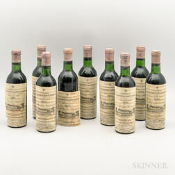 Chateau La Mission Haut Brion 1966, 9 demi bottles
