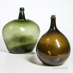 Two Large Blown Glass Carboys/Bottles