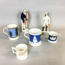 Six English Pottery Items