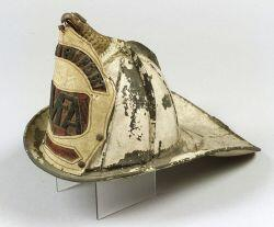 White Painted Leather High Eagle Firefighter's Helmet