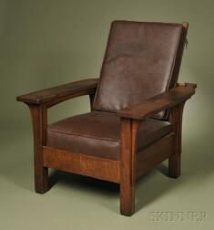 Arts & Crafts Paddle-arm Morris Chair