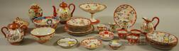 Thirty-two Pieces of Mostly Japanese Kutani Porcelain Tableware