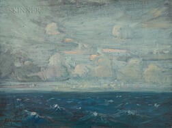 Arthur Clifton Goodwin (American, 1866-1929)      Seascape with Waves