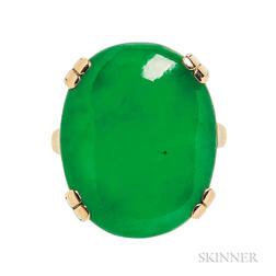 14kt Gold and Jadeite Jade Ring