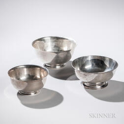 Three Tiffany & Co. Sterling Silver Revere Bowls