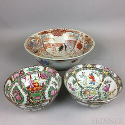 Three Modern Chinese Export Porcelain Bowls