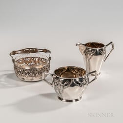 Three Pieces of German .800 Silver Tableware