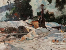 Aldro Thompson Hibbard (American, 1886-1972)      Sawmill at Winter