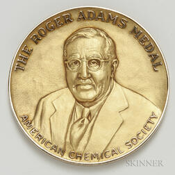 1965 American Chemical Society Roger Adams Award 10kt Gold Medal