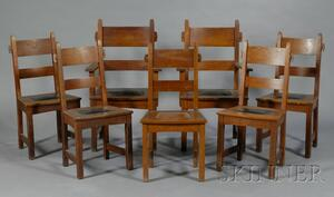 Seven Gustav Stickley Arts & Crafts Chairs