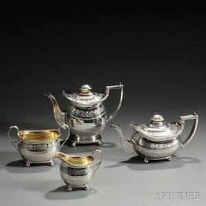 Four-piece George III Sterling Silver Tea Service