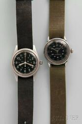 Two Military-style Men's Wristwatches