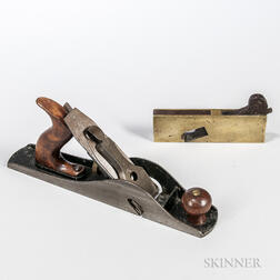 Stanley No. 10 Carriage Maker's Rabbet Plane and a Brass Rabbet Plane
