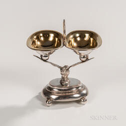 Continental Silver Double Salt Cellar
