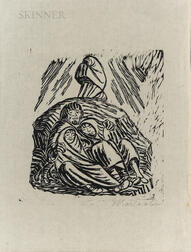 Ernst Barlach (German, 1870-1938)      Untergang (Downfall)