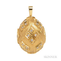 18kt Gold and Diamond Egg Charm, Gubelin
