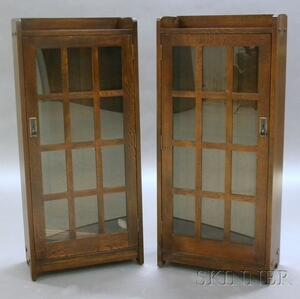 Pair of Arts & Crafts Style Stickley Bookcases