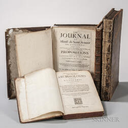 Early Books, Four Folio Volumes, 1626-1715.